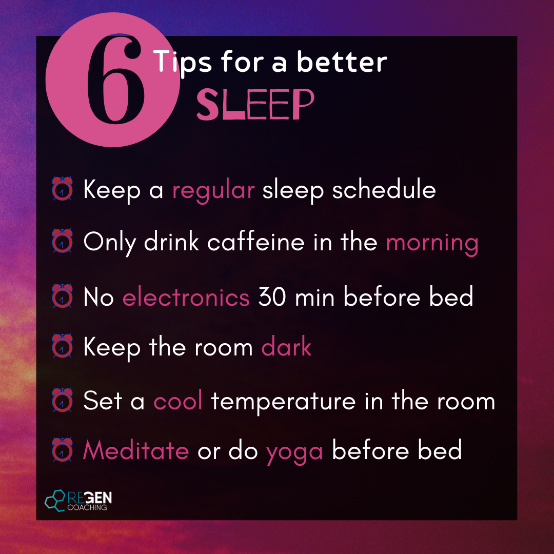 Insta - 6 tips for a better sleep