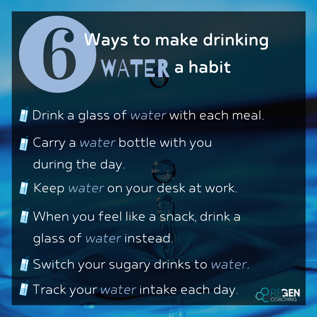 Insta - 6 ways to make drinking water a habit