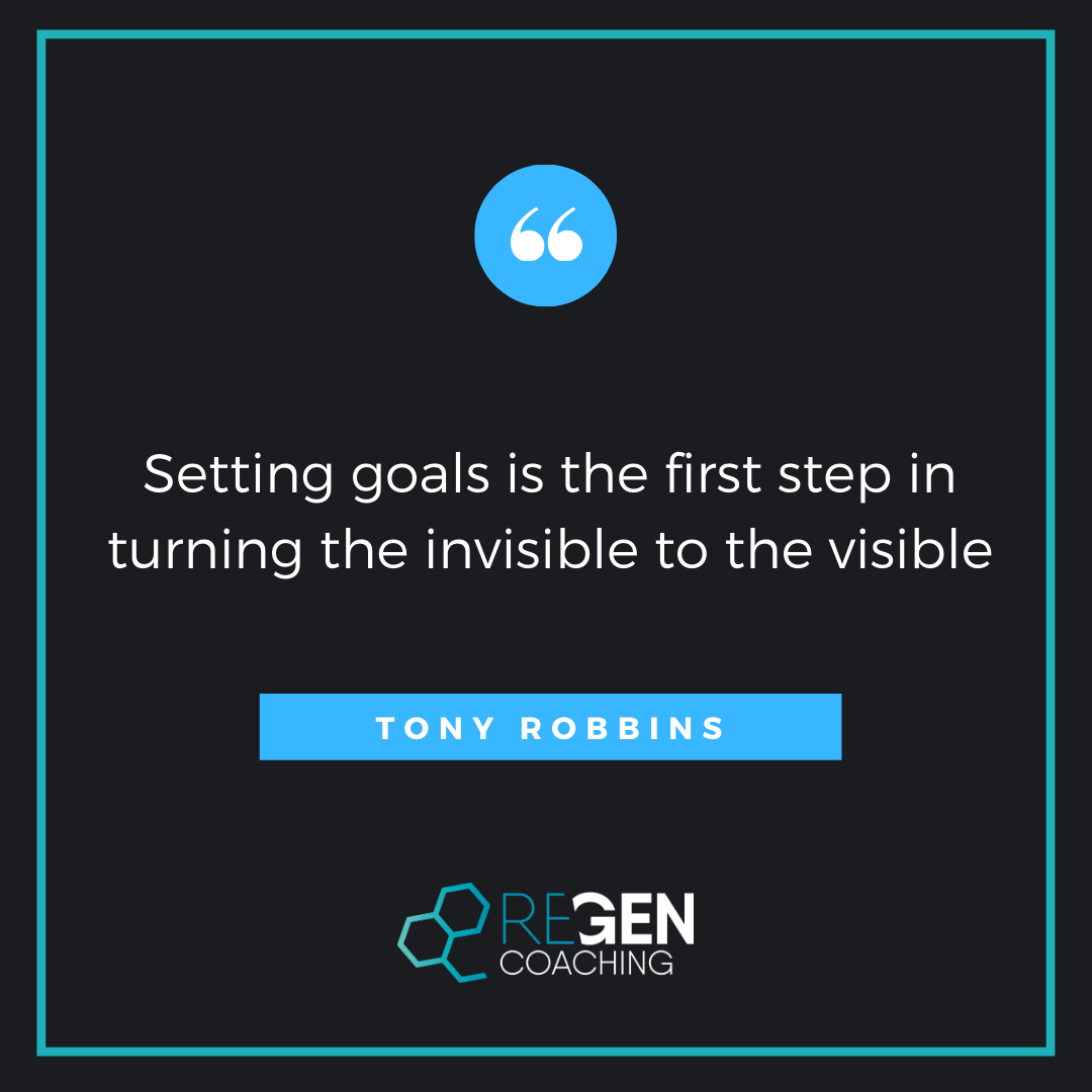 Setting goals is the first step in turning the invisible to the visible